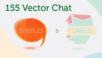 155 Vector Chat Bubbles & Labels - Only $8