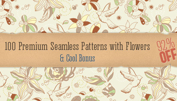 100 Premium Seamless Patterns with Flowers & Cool Bonus