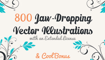800 Jaw-Dropping Vector Illustrations & Cool Bonus