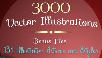 3,000 Top-Quality Vector Illustrations & Huge Bonus
