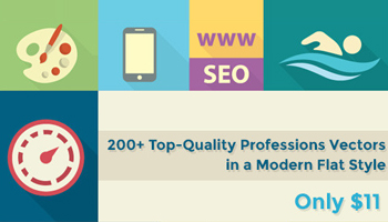 200+ Top-Quality Professions Vectors in a Modern Flat Style - Only $11