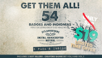 Get Them All - 54 Badges and Insignia
