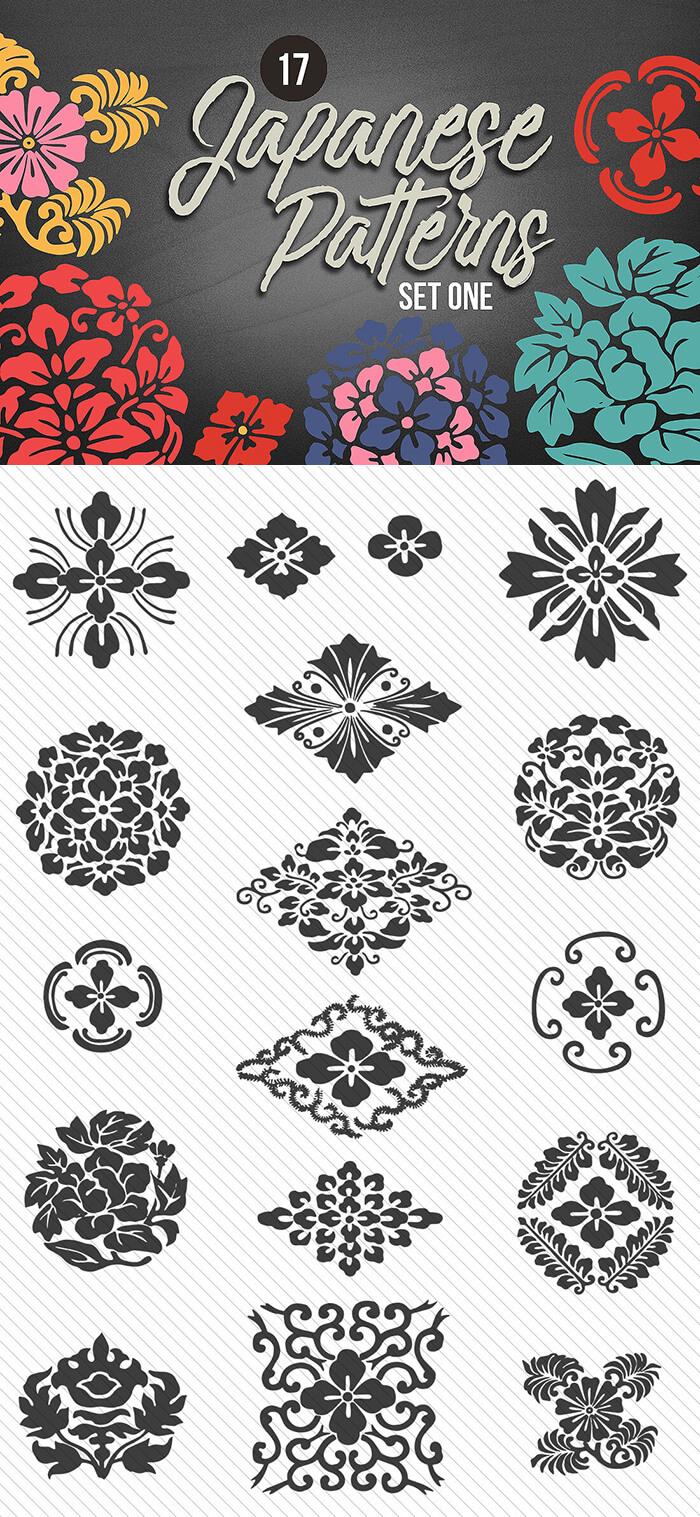 JapaJapanese Seamless Patterns