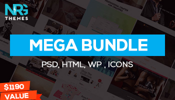 Premium HTML, WordPress, PSD and Icons! 1052 items from NRGthemes with 96% OFF