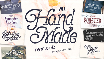 All Handmade Font Bundle by Alterdeco - only $9