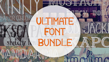 The Ultimate Font Bundle: 52 Beautiful OpenType Fonts for only $39