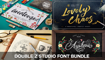 Get these 4 Fabulous Fonts from Double Z Studio - only $10!