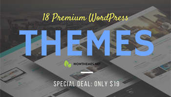 18 Premium WordPress Themes for $19 - Extended License!