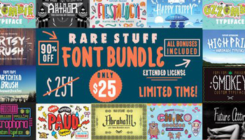 Rare Stuff Font Bundle with Extended License