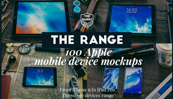 The Range -100 Apple idevices mockups