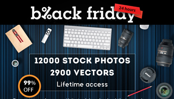 Black Friday - Get 12000 Stock Photos and 2900 Vectors for only $25