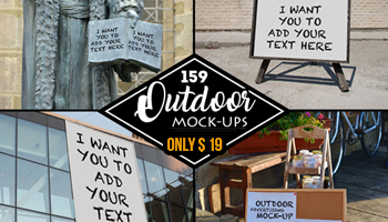 159 Outdoor Advertising Mockups - only $19