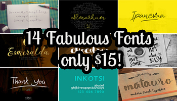 14 Fabulous Fonts from Incools Design Studio - only $15!