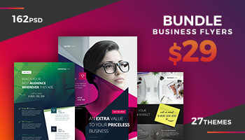 162 Business Flyer Templates / Corporate Magazine Ads
