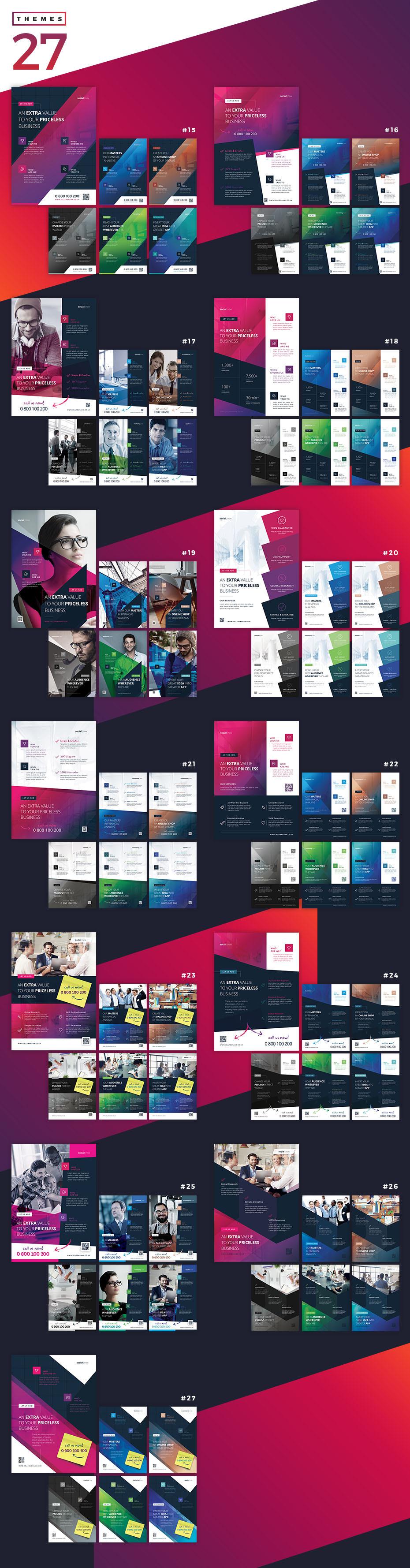 Corporate Flyer Bundle themes 15-27