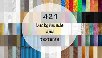 Mega bundle - 421 Backgrounds and textures