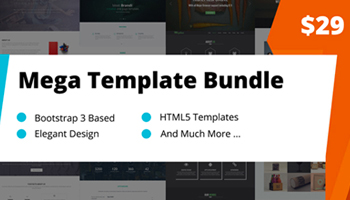 Mega Bootstrap Templates Bundle