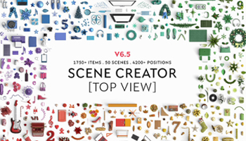 Mock Up Scene Creator - Top view