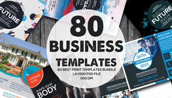 80 Business Print Templates Bundle only $19
