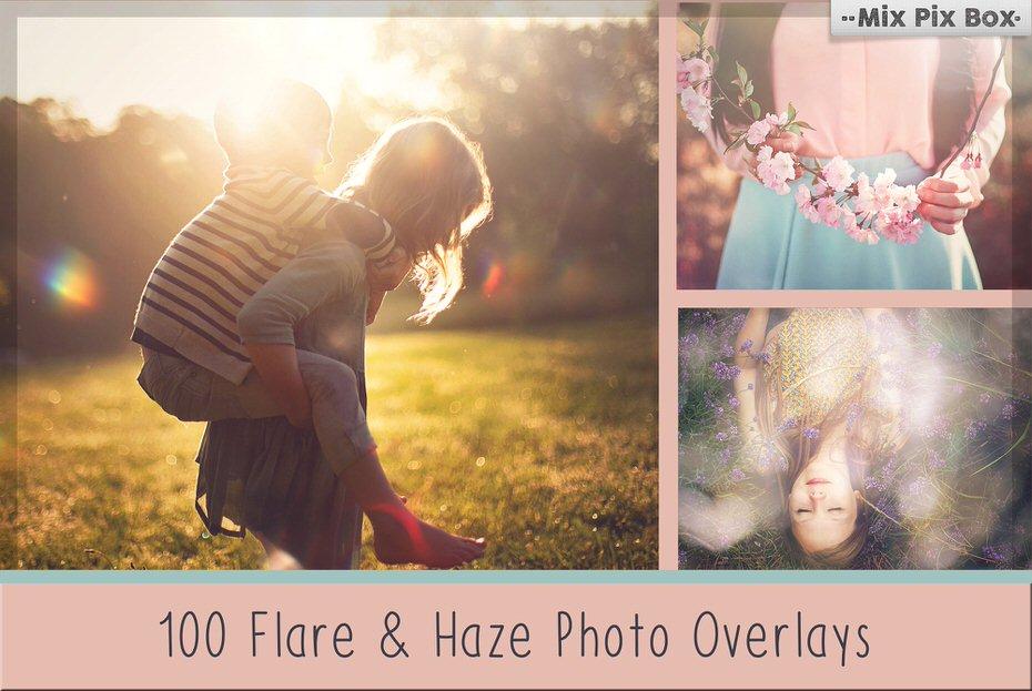 Sun flare and haze