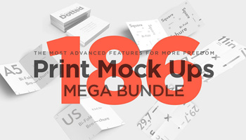 Print Mock Up Bundle - 186 PSD Files