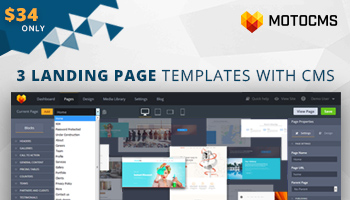 3 Professional Landing Page Templates in 1 Bundle - 40% OFF