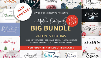 Calligraphy Font Bundle - 97% OFF
