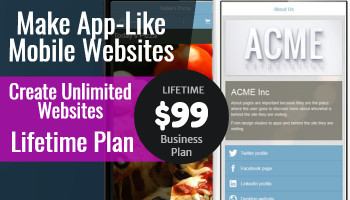 App Byte Mobile Website Builder: Lifetime Unlimited License (Business Plan)