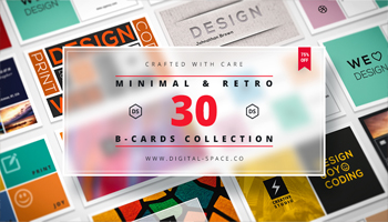 30 Minimal and Retro Business Cards by Digital Space