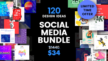 Social Media Templates Bundle - Get 2880 Templates for only $34