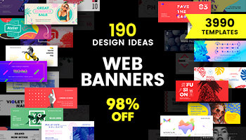 Get 190 Web Banner Design Concepts With 3990 Templates Inside For Just $34!