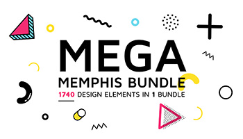 MEGA MEMPHIS BUNDLE - Get 1740 design elements - 94% OFF