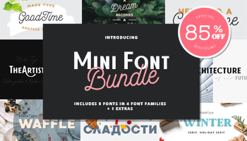 Mini Font Bundle from MadeType