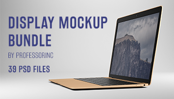 Display Mockup Bundle - 39 Photorealistic PSD Mockups