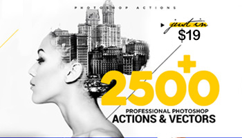 2500+ Professional Photoshop Actions With Bonus Vector and Icons