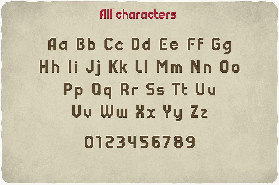 Vintage fonts