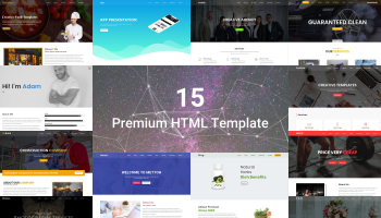 15 Premium HTML Templates for only $8
