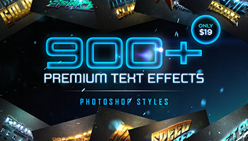Premium Photoshop Text Effects Only $19