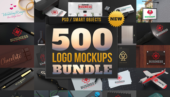 500 Logo Mockups Bundle with Extended license for only $15