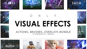 Only Visual Effects Bundle - Actions, Brushes, Overlays
