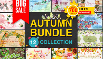 Big Sale Autumn Bundle, 12 Collections, 700 Files for only $12