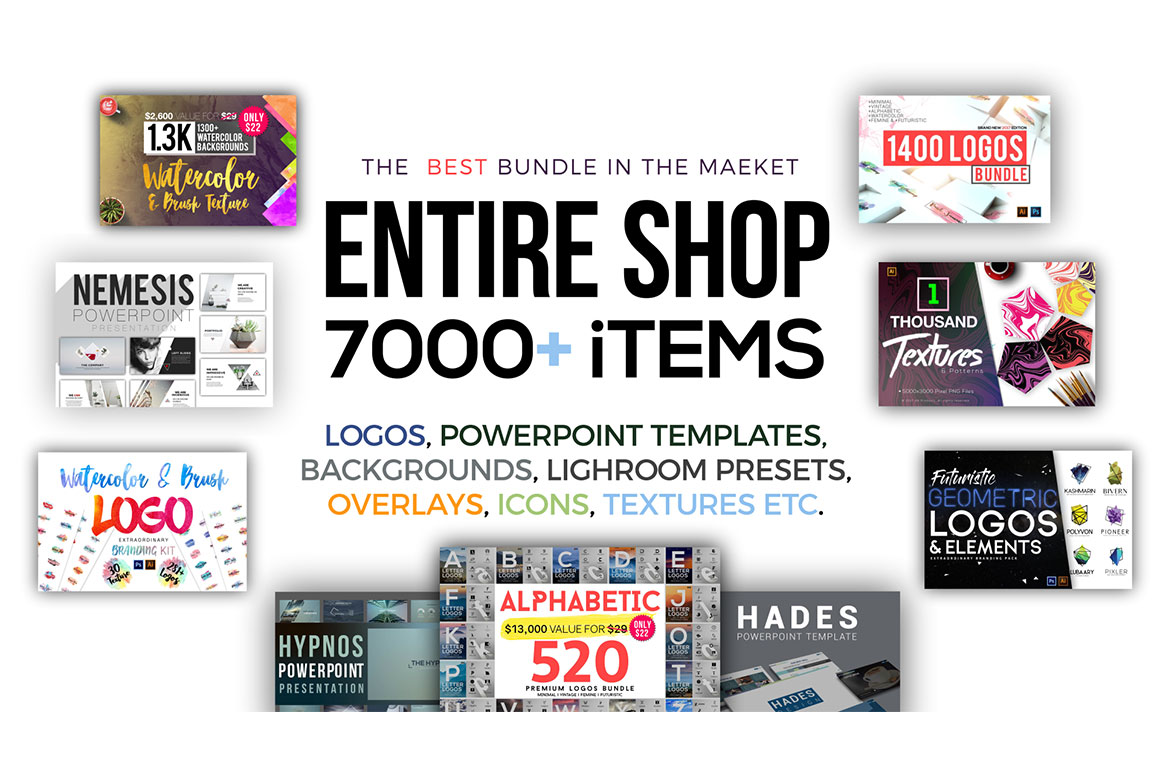 Graphicxpack Entire Shop - Get 7000+ Awesome Items with Extended License