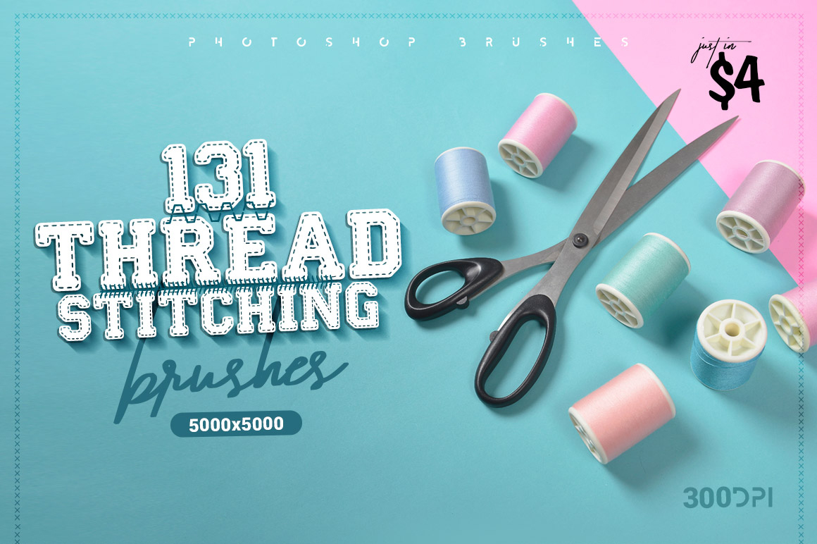 131 Thread Stitching Brushes - Only $4