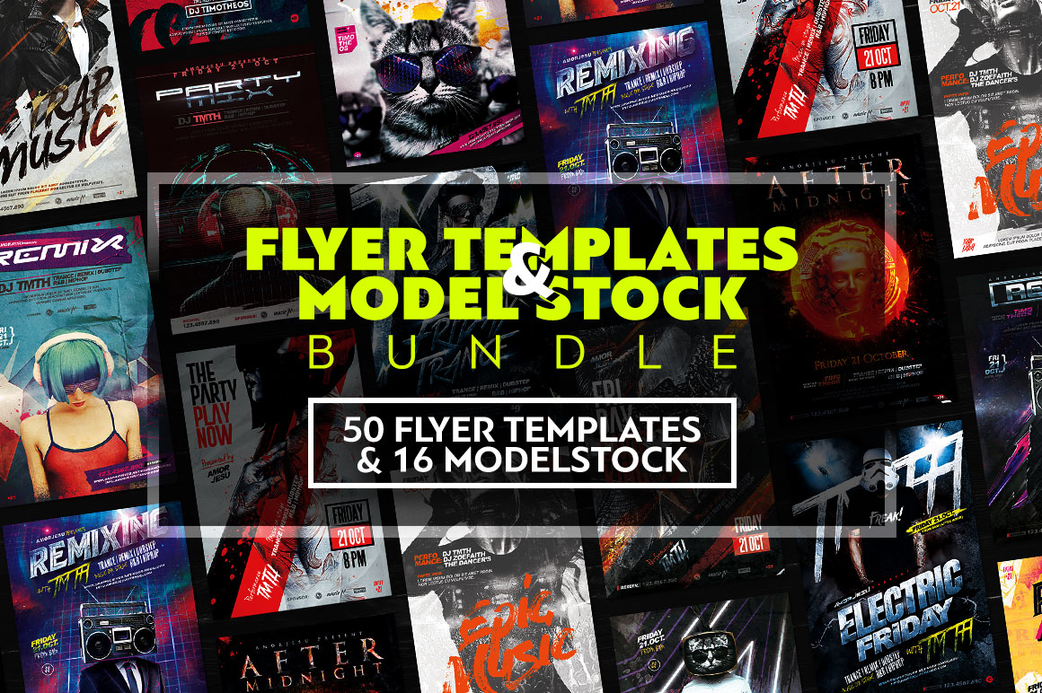 Flyer Templates & Model Stock Bundle