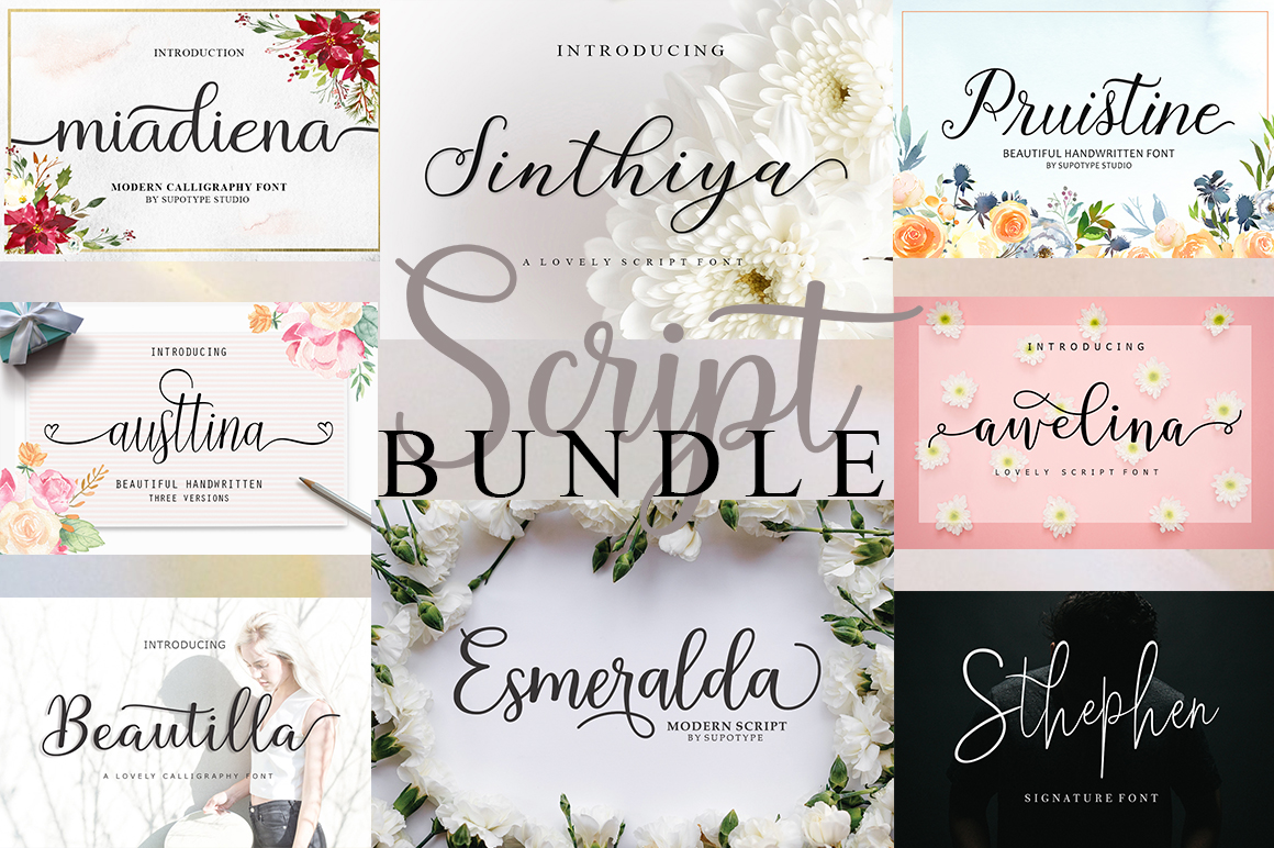 Get 8 Fabulous Script Fonts from Supotype - only $8