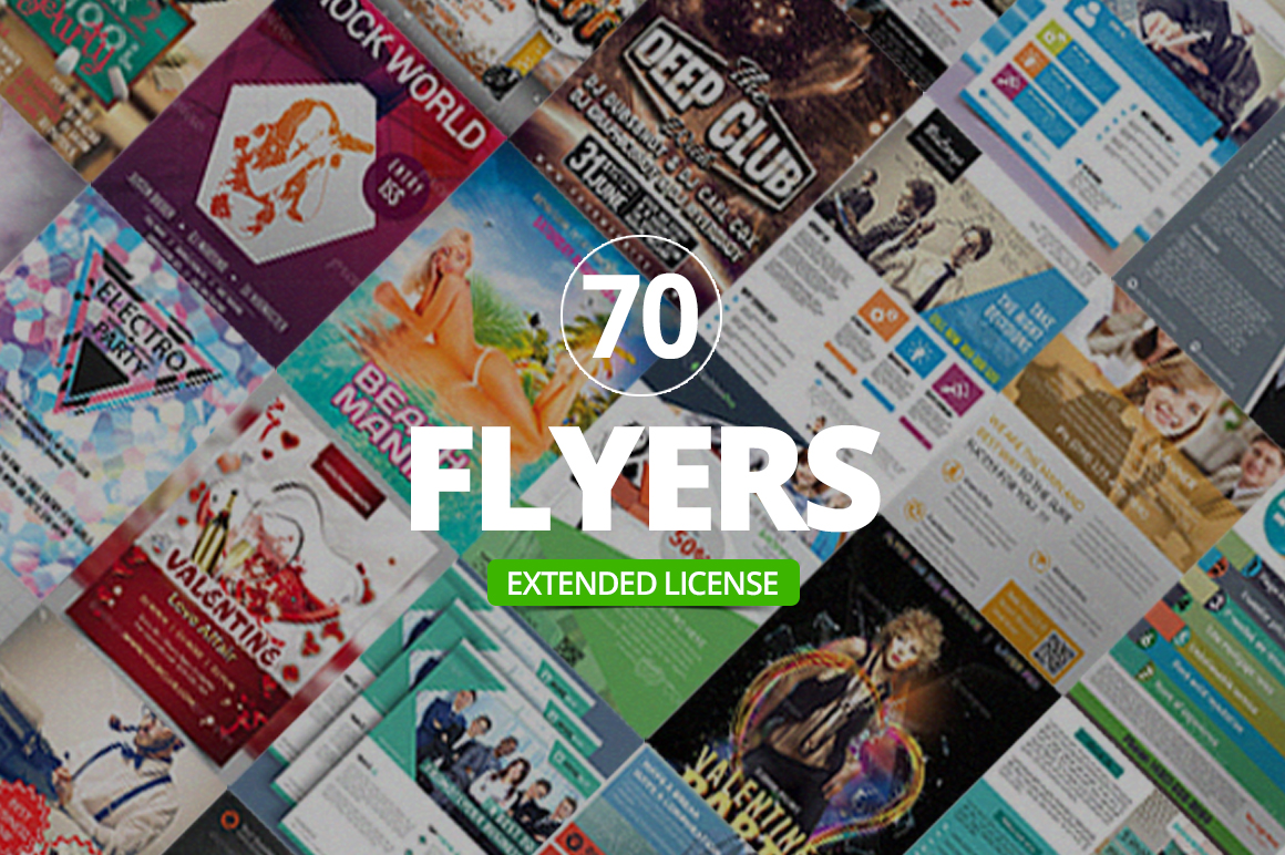 70 Corporate & Event Flyer Templates with Extended License - Only $9