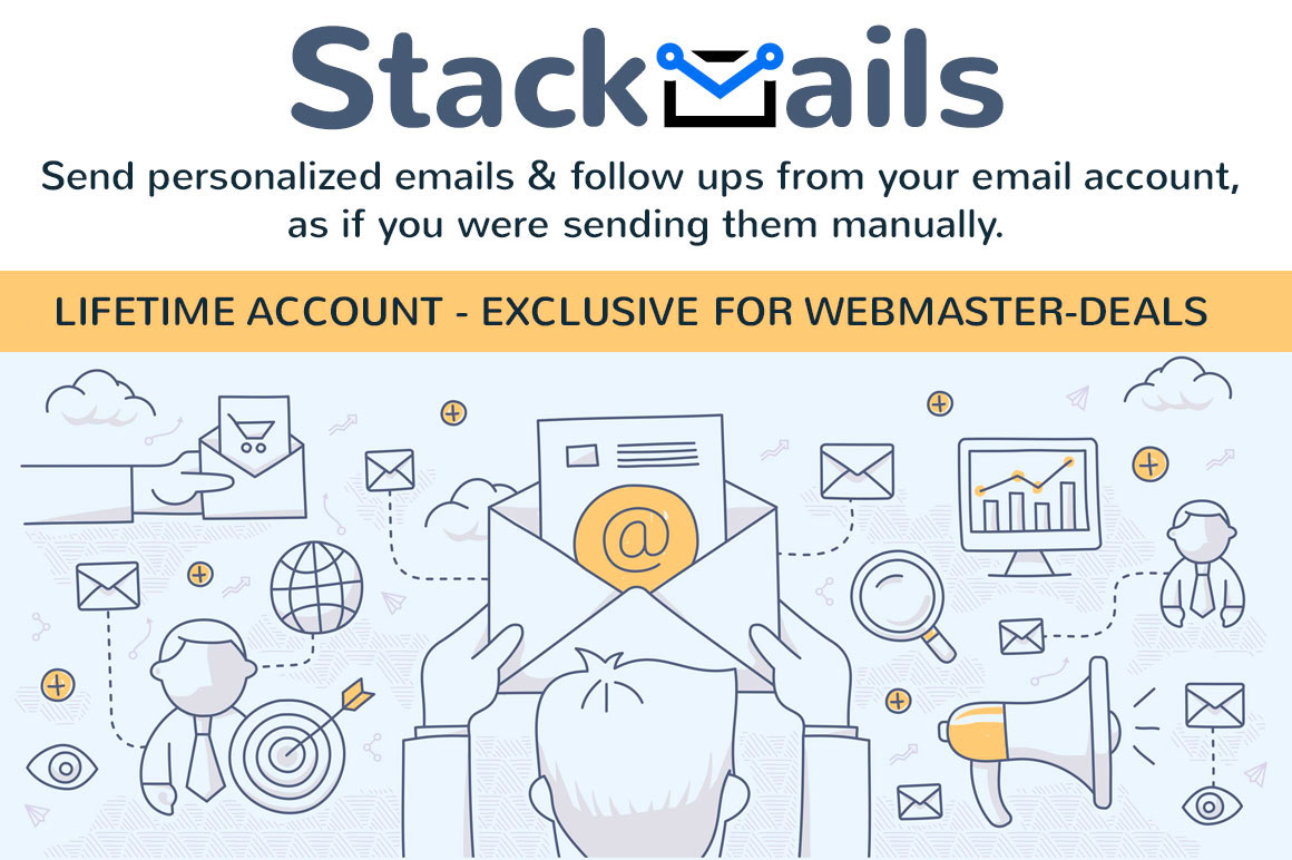 Lifetime Account - Stackmails - Send personalized emails & follow ups from your gmail account
