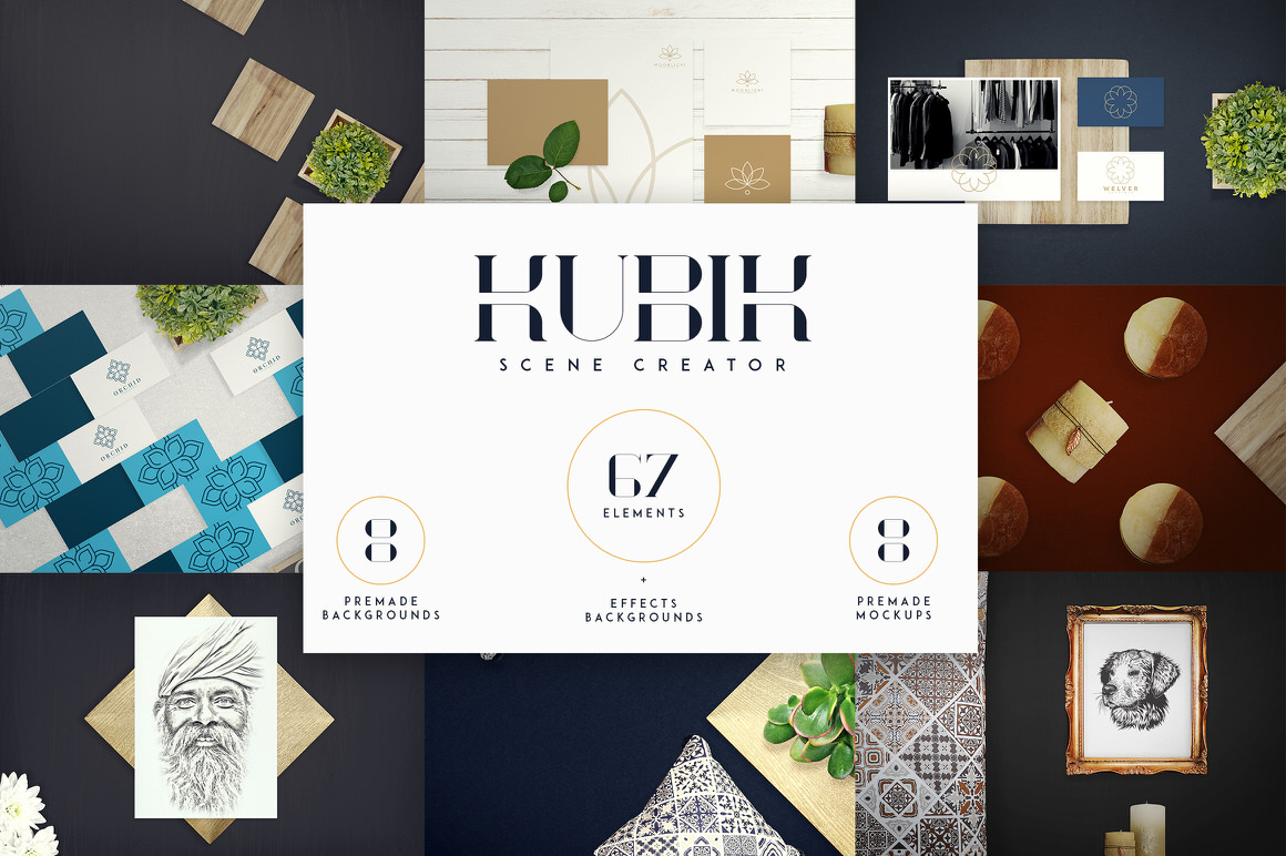 Kubik Scene Creator - 67 elements   Only 100 copies available
