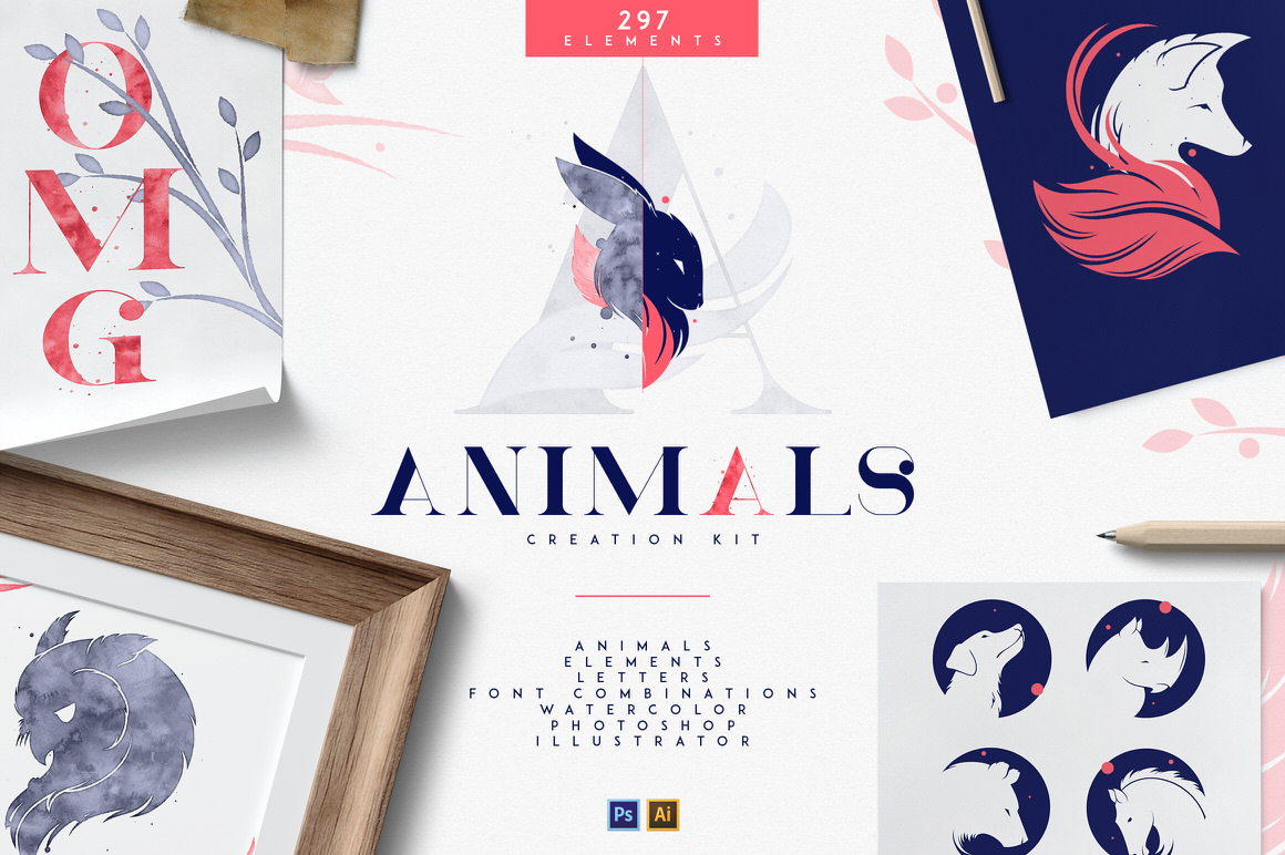 Animals Creation Kit - A must have toolkit for every designer - only $14
