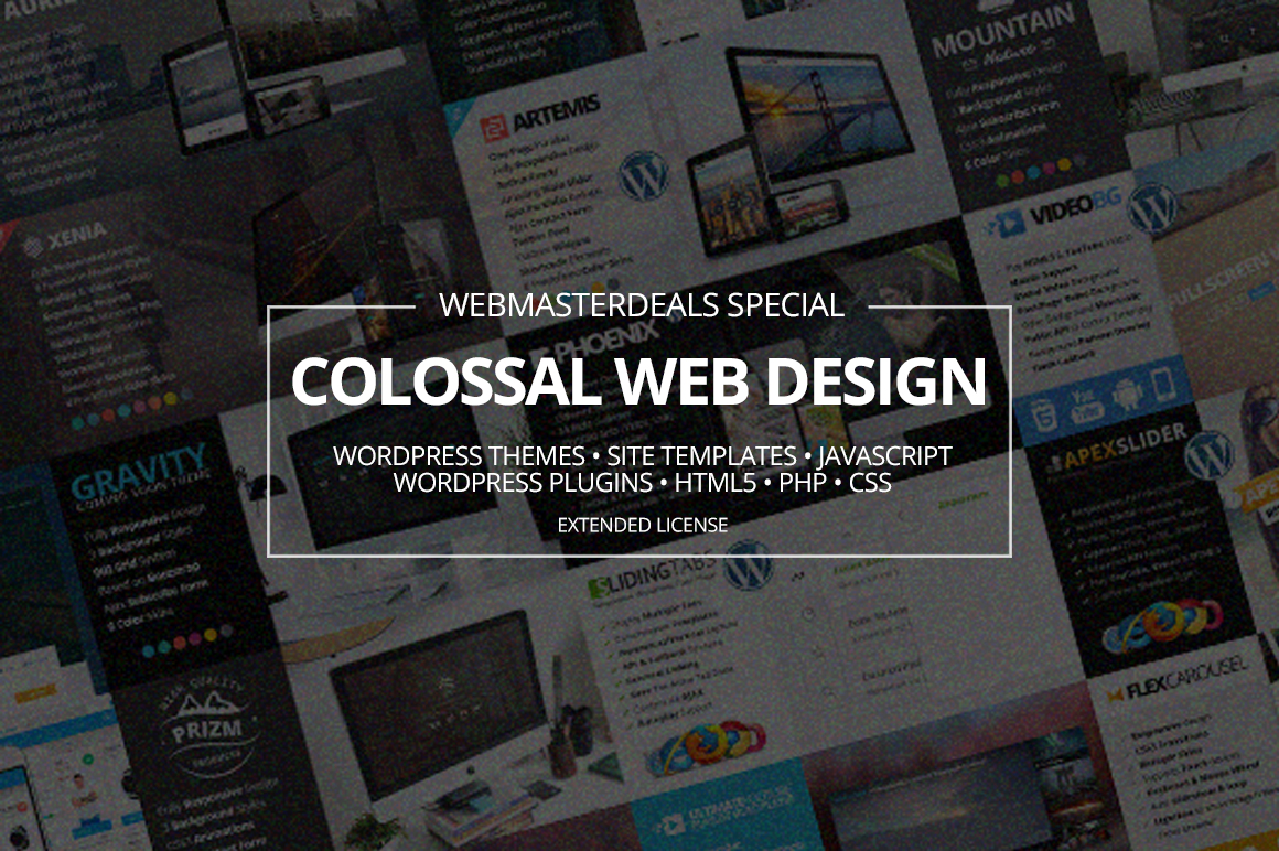 Colossal Web Design Bundle with Extended License - Only $19